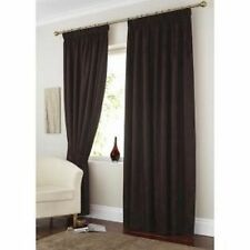 Brown Readymade Curtains Fully Lined Pencil Pleat Style 66x90