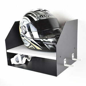 Image Is Loading White Motorcycle Motocross Motorbike Bike Helmet Storage  Shelf