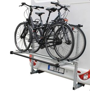 fahrradtr ger f r 2 r der hecktr ger hochgeklappt nutzlast 130kg wohnmobile ebay. Black Bedroom Furniture Sets. Home Design Ideas