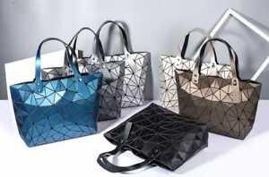 Diamond-Luminous-Bag-Women-Geometric-Shoulder-Tote-Geometric-Quilted-Laser-Plain