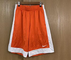 Nike-Basketball-Shorts-Mens-Size-Medium-Logo-Orange-White-10-Inseam