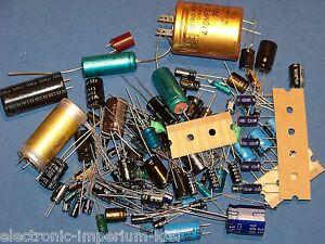 Sortiment-Elektrolyt-Kondensatoren-Elkos-100-Stueck-viele-verschiedene-Werte