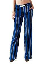 GUESS Blue Black Striped Palazzo Pants Women Wide Leg Sz Small NWT