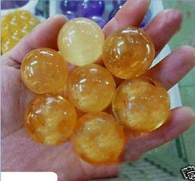New 7pcs 40mm Natural Citrine Calcite Quartz Crystal Sphere Ball Healing