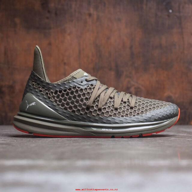 premium selection 017af e2ab0 NIB Men's Puma Ignite Limitless NETFIT Olive/Night Sneakers 18998303