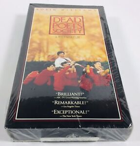 Dead-Poets-Society-VHS-1989-Classic-Movie-with-Robin-Williams-NEW-SEALED