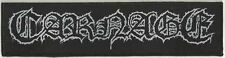 "Carnage ""Logo"" Woven Patch - OFFICIAL dark recollections carcass entombed"