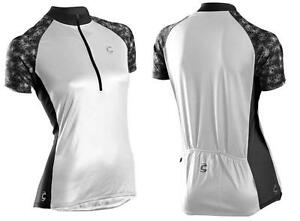 tenn Active Damen kurzarm Radsport Fahrrad Shirt Sport Trikot schwarz rot neu