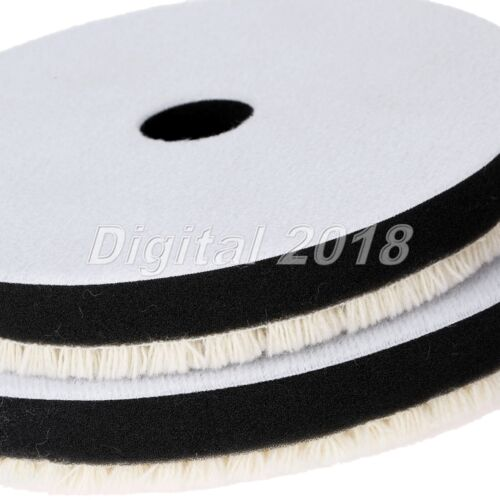 """3/"""" Woolen Parallel Lines Waxing Buff Polishing Disc Car Cleaning Buffing Pads"""