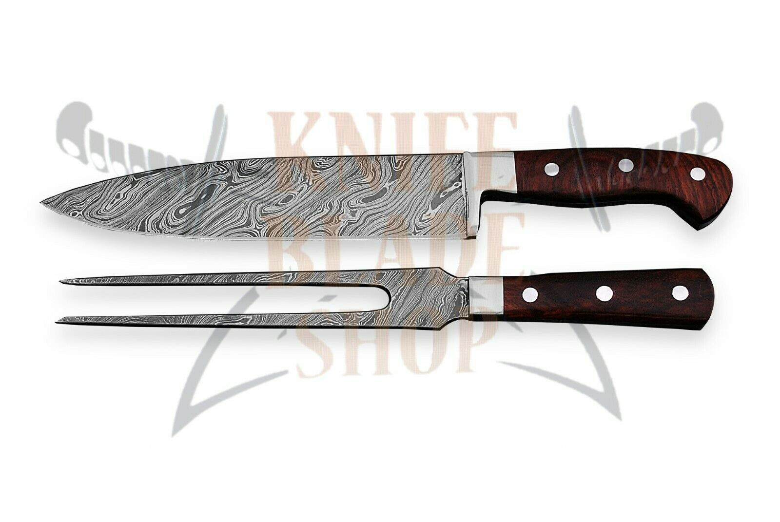 Damascus Steel Blades ,VIKING 2 PIECE PIECE PIECE CARVING  SET     02 piece SET 94b0bc