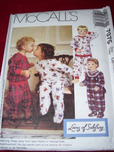 McCALL/'S # 7975-CHILDS NIGHT ONSIE PULL-ON SHIRT /& ELASTIC PANTS PATTERN 1-3FF