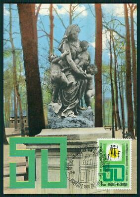 Belgien Mk 1971 Familien-bund Monument Kind Child Maximumkarte Maxi Card Mc Ef79 Maximumkarten