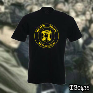 01b4ce96 Image is loading AIK-STOCKHOLM-BLACK-ARMY-ULTRAS-HOOLIGANS-t-shirt