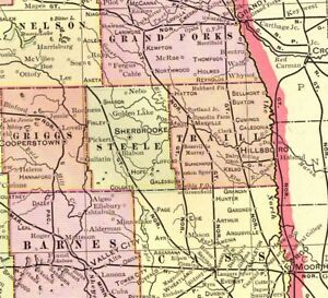 Details about 1901 Antique NORTH DAKOTA State Map Vintage Map of North  Dakota Wall Art #4241