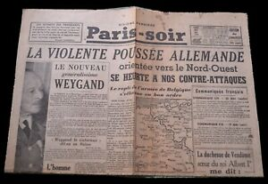 journal-Paris-Soir-du-21-mai-1940-violente-poussee-allemande