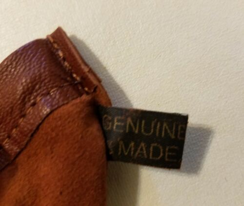 """4 Brown Genuine Leather Small 3/"""" Drawstring Pouch Bag Jewelry Coin Renaissance"""