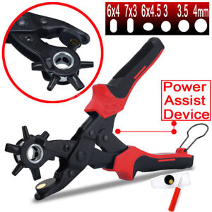 Multi-Size-Revolving-Leather-Belt-Eyelet-Hole-Punch-Puncher-Plier-Craft-Tool-10-034