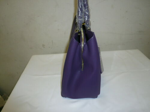 Joy Mangano E*Lite Leather Satchel Purple