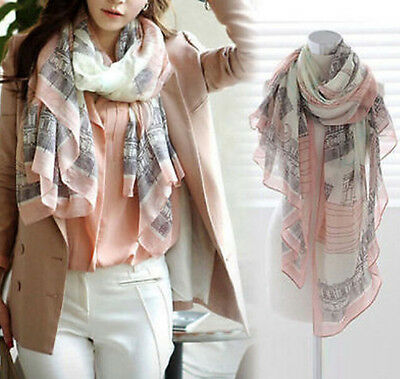 Women Ladies Long Print Cotton Scarf Wrap Shawl Girls Large Silk Scarves