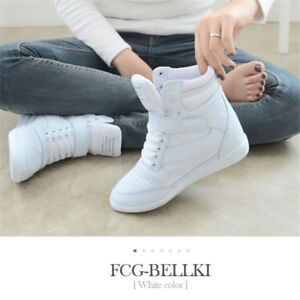 Damenschuhe Womens Sneakers Lace Up Athletic High Top New