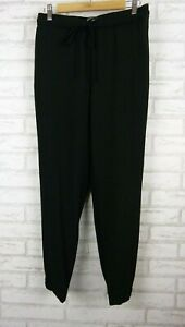 Country-road-pants-black-casual-fit-cargo-style-size-8