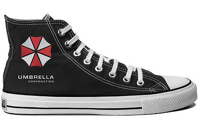 Resident Evil Umbrella Corp Game Canvas Shoes Hi Top Unisex Trainers Boots