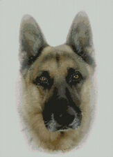 "Alsatian German Shepherd Cross Stitch Kit 10""x14"" D2169"