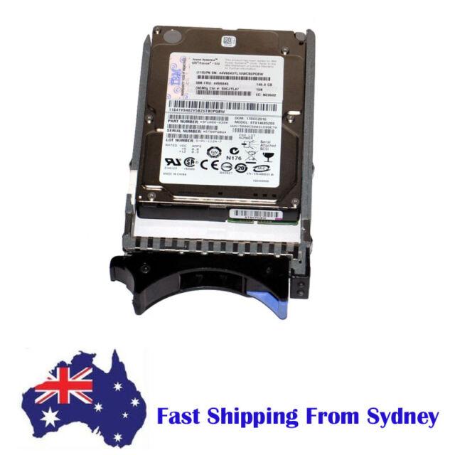"IBM 146GB 15K SAS 2.5"" Hard Disk Drive w/ Hot-Plug Caddy 44V6845 ST914852SS"