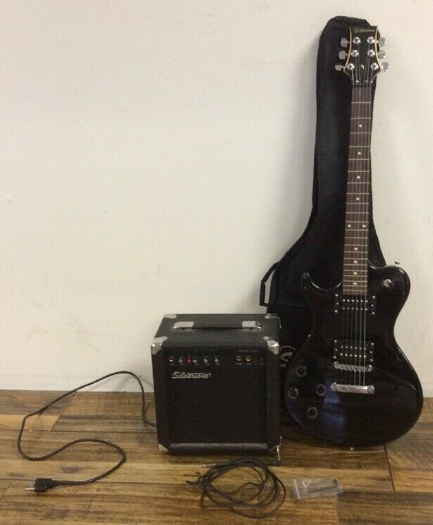 SilGrünone Left Handed Electric Guitar With Amp- SilGrünone Smart 3 Amp