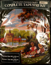 Twilleys Needlecraft Tapestry Kit #821 Young Couple Church Round Scene 16x16 in