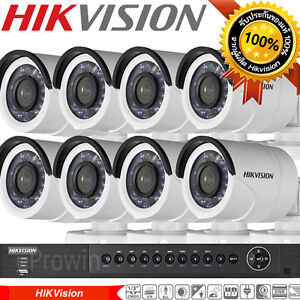 HIKVision-CCTV-8CH-HD-DVR-2TB-Video-Surveillance-8-pcs-Waterproof-HD-Camera-Kit