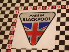 Made in Blackpool Chrome Sticker- TVR Tasmin Grantura Vixen Grantura Tuscan 3000