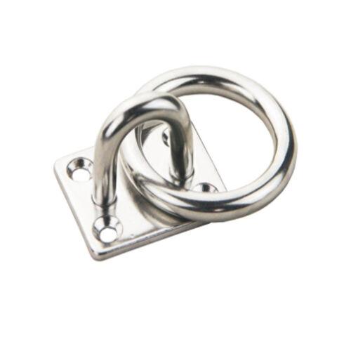 1 STÜCK 316 Edelstahl Quadratische Augenplatte 6 MM Ösenhaken Mit O Ring Marine