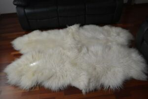 curly quad 4 sheepskin rug long wool