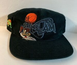 2f024889a71 Vintage Tax Space Jam Hat Tune Squad Looney Tunes Black SnapBack Cap ...