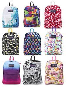 Image is loading JanSport-SuperBreak-Backpack-Rucksack-School-Bag -Black-Navy- c80fa019fcc3b
