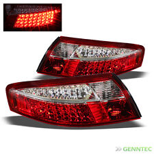 For 1998-2004 Porsche 911 Carrera Red & Clear LED Tail Lights Brake Lamp Pair