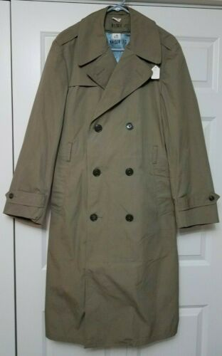 Vintage Military Over Coat/ Trench Coat with Liner
