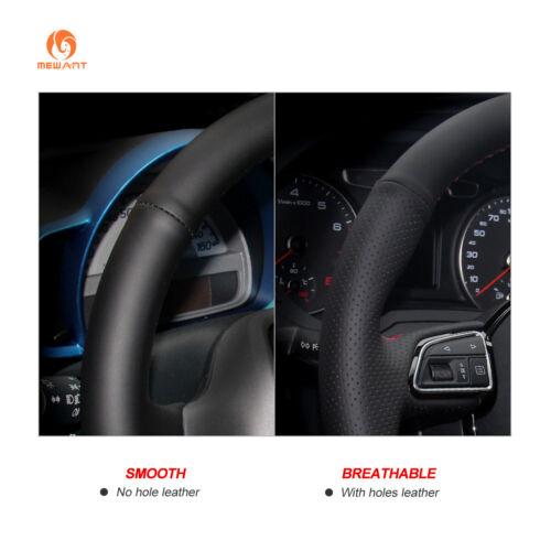 Black Leather Steering Wheel Cover for Infiniti FX35 FX37 Nissan Juke Sentra SV