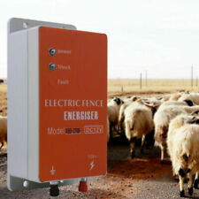 12v Dc 10km Electric Fence Controller Energizer Charger For Animal Farm Poultry