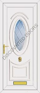 Jefferson One Diamond Clear Bevel Glazed UPVC Front Door, Frame & Letterbox