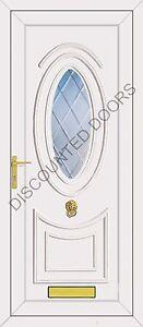 Jefferson One Diamond Clear Bevel Glazed UPVC Front Door, Frame & Letterbox
