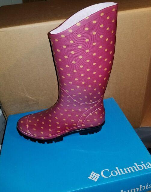 23daffe4a47 Columbia Women's Rainey Tall Rain Boot - Dark Raspberry Pebble Sz # 7