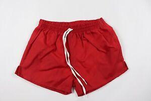 Vintage-90s-New-Sportcraft-Youth-Medium-Lined-Nylon-Gym-Soccer-Shorts-Red