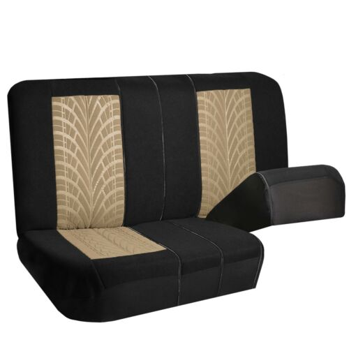 Universal Seat Covers For Car SUV Van Beige Black Full Interior Set