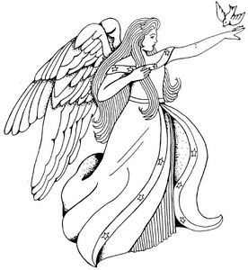 Image Is Loading Unmounted Rubber Stamps Christian Religious Lg Angel