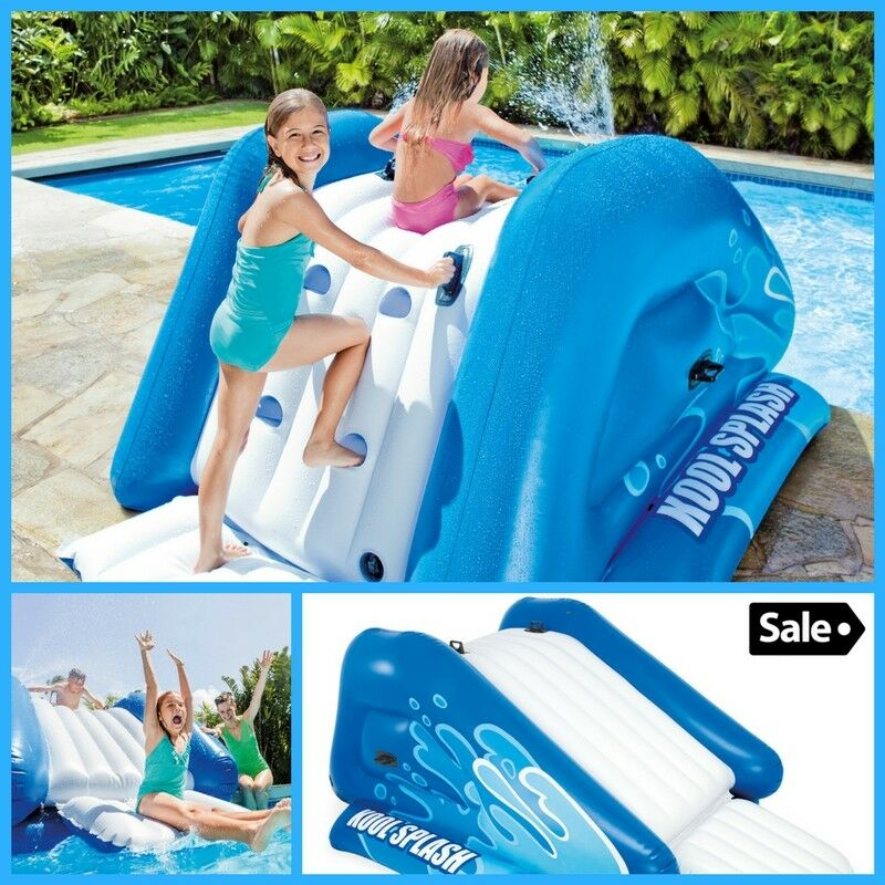 Inflatable Water Slide Swimming Pool Side with Sprayer For Kid Summer  Playground
