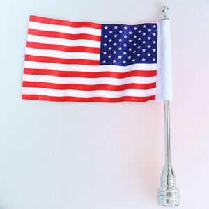 vertical flagpole american flag harley touring road king glide flht