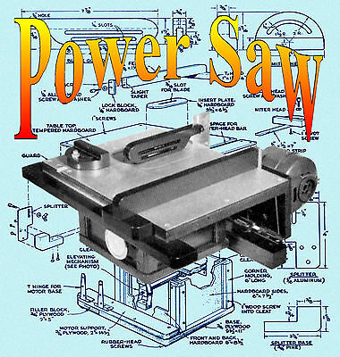 HOBBY & CRAFT TABLE SAW  INSTRUCTIONS & Printed PLANS