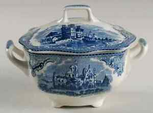 Johnson-Brothers-OLD-BRITAIN-CASTLES-BLUE-MADE-IN-CHINA-Sugar-Bowl-4740993